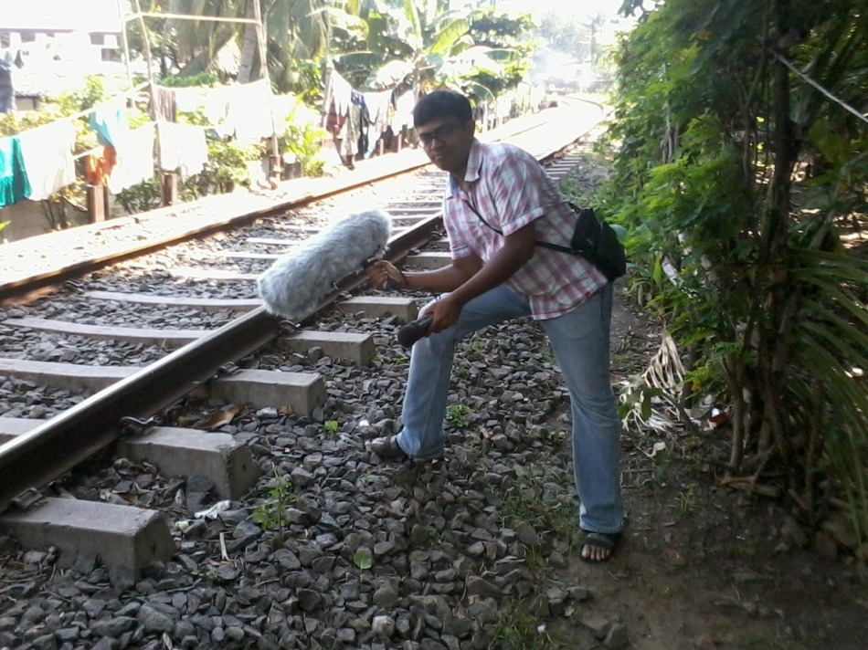 This was taken during my trip to sri lanka when I was recording trains - P.S. this was a pose not actually during work